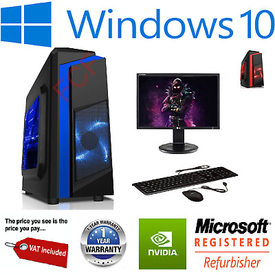 Fast Gaming PC Bundle CHEAP I3 I5 I7  2TB 16GB RAM GTX 1660 Windows 10 NEW • 247.95£