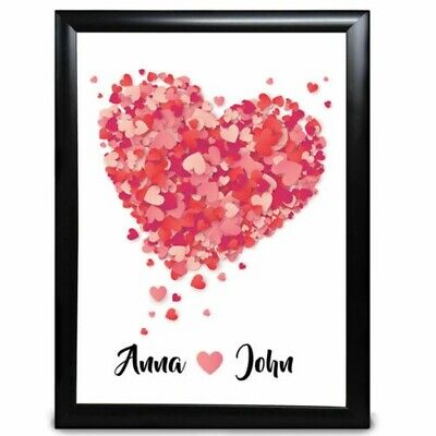 AU20.53 • Buy Personalised Anniversary Wedding Gift For Him Her Couple Valentines Day Print