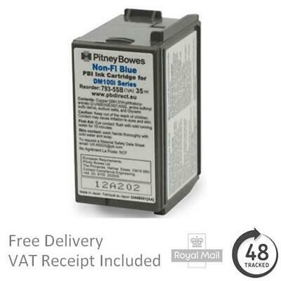 Genuine Pitney Bowes 793-5SB Non Fi Blue Ink Cartridge For DM100i Series • 65.95£