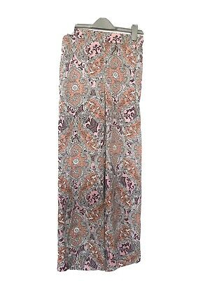 River Island Festival Paisley Palazzo Trousers Size 10 • 15.99£