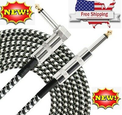 $ CDN31.23 • Buy NEW 10ft NOISELESS Electric Guitar Bass Cable Pedal AMP Cord 1/4  USA KEYBOARD