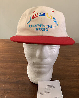 $ CDN120.65 • Buy Supreme Jesus 6-panel Hat Red Os Fw20 Week 5 (in Hand) Authentic, Brand New