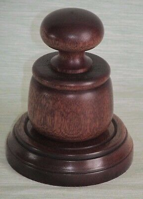 £16.99 • Buy Gavel And Sounding Block Wooden Palm Pocket In Quality Mahogany Wood