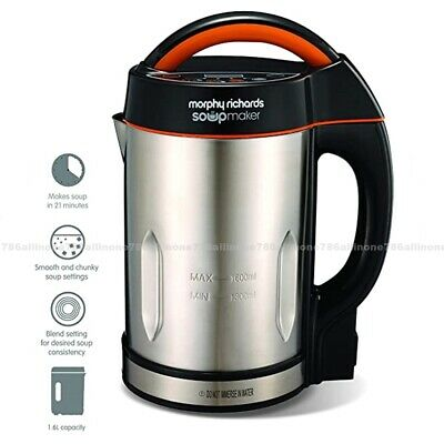 Morphy Richards Soup Maker 1.6L For Fuctions In Stainless Steel &black 48822 • 59.99£