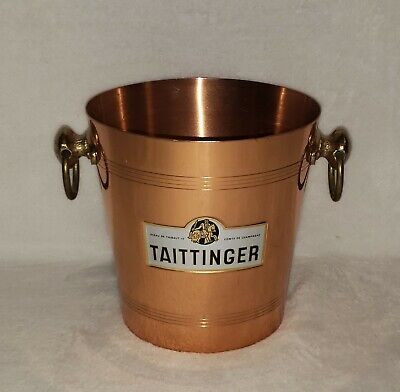 Taittinger Copper And Bronze Champagne Bucket - Made In France  • 61.71£