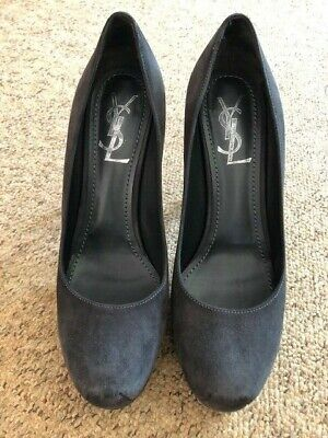 YSL Court Shoes 37.5 Grey • 110£