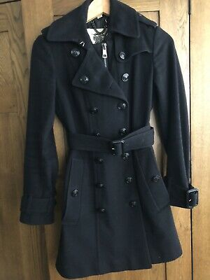 Burberry London Wool Cashmere Military Style Coat Size 4UK, Fits Size 36-38 EUR • 100£