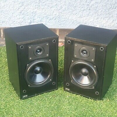 JPW Vintage Bookshelf Speaker Mini Monitor 2 Way Loudspeaker  70 Watts Black • 39.99£