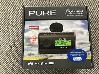 PURE HIGHWAY IN-CAR DAB TUNER Radio With FM Transmitter • 20£