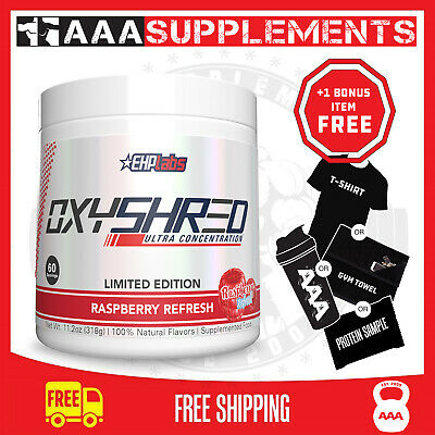 AU79.95 • Buy EHP Labs Oxyshred ** Raspberry Refresh NEW FLAVOUR** FAT BURNER + FREE POST