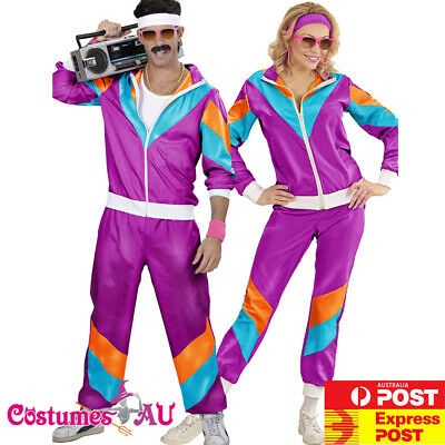 AU69.98 • Buy Couple 80s Shell Suit Tracksuit Costume 1980s Height Of Fashion Retro Disco