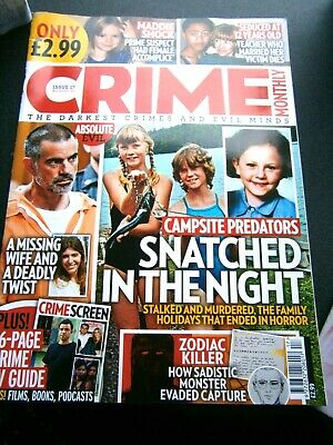£3.95 • Buy  Crime Monthly Magazine Issue  Issue 17 August  (new) 2020