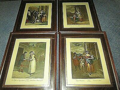 Four Authentic 1795 Wheatley Cries Of London Hand Coloured Engravings Vendramini • 10£