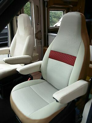 To Fit A Fiat Ducato Motorhome 2020 Model, Tall Pilot Seat Covers Olivia MH-1008 • 129£