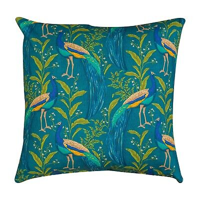 £11.99 • Buy Vibrant Peacock Cushion In Indigo And Teal Blue. 17  Double Sided. 100% Cotton.