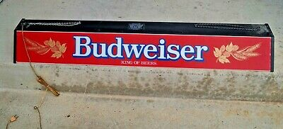 $ CDN307.06 • Buy Vintage 1980s Budweiser Lighted Pool Table Bar Advertising Beer Sign 48