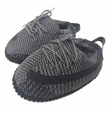 £36.15 • Buy Yeezy Style Sneaker Slippers   Unisex   Ultra Plush And Comfy   Black Reflective