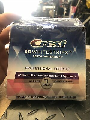 AU42.35 • Buy Crest 3D White Professional Teeth Whitening Strips Kit - 20 Treatments