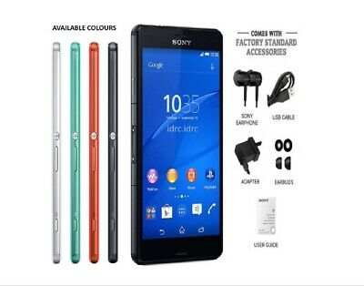 Sony Xperia Z3 Compact D5803 16GB 20.7MP RAM 2GB Unlocked Android Smartphone • 89.99£
