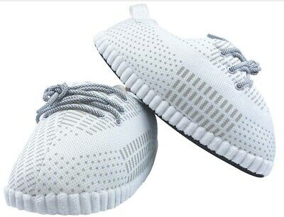 £21.72 • Buy Yeezy Style Sneaker Slippers   Unisex   Ultra Plush And Comfy   White Reflective