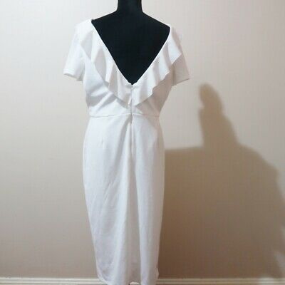 AU50 • Buy NEW ASOS Womens White Midi Dress Size 18