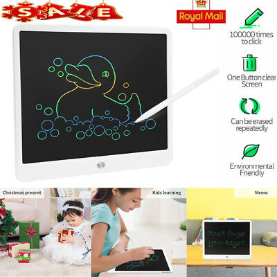 15 Electronic Digital LCD Writing Pad Tablet Drawing Graphics Board Notepad Gift • 15.98£