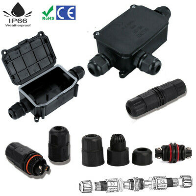 Waterproof Junction Box Case Electrical Cable Wire Connector Outdoor Underwater • 5.99£
