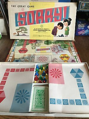 SORRY - The Great Family Board Game By WADDINGTONS - Vintage Japanese Version • 22.99£
