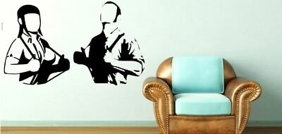 £27.50 • Buy Ska Style Skinhead Man And Woman With Braces Music Vinyl Wall Art Decal Sticker