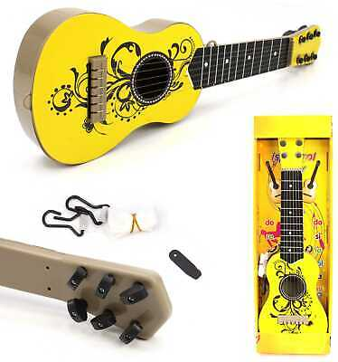 Kids Plastic Childrens Guitar Musical Enstrument Toy Xmas Present 20  (yellow) • 9.99£