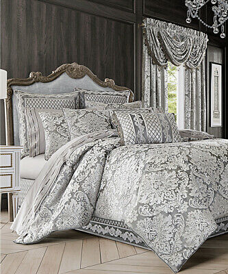 $ CDN380.61 • Buy J Queen New York Bel Air 4-pc King Comforter Set Silver