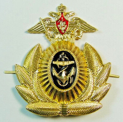 Original Russian Navy Officers Cap Hat Badge Imperial Eagle Anchor Cockade New  • 5.50£