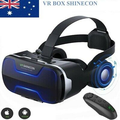 AU74.89 • Buy 3D Shinecon VR 4.0 Virtual Reality Headset Box Glasses For Android Game Movie AU