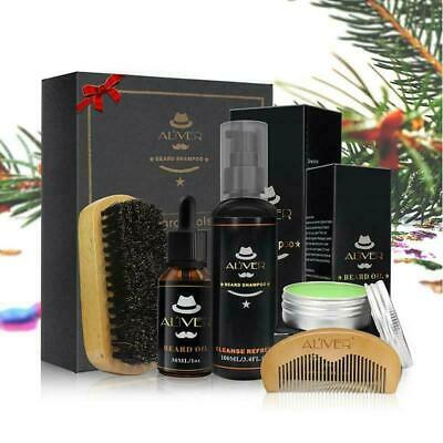 Men Beard Care Shampoo Oil Balm Comb Brush Grooming Shaving Great Gift Kit • 12.10£