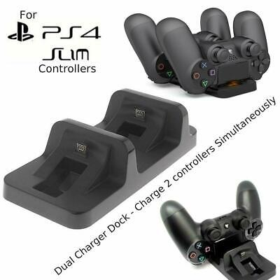 AU9.83 • Buy Dual Charger Dock Station For PlayStation PS4 Slim Wireless Controller Pad