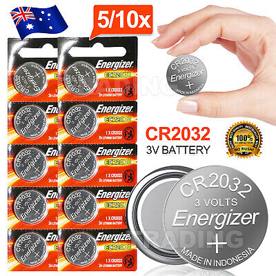 AU5.95 • Buy 5/10x For ENERGIZER CR2032 BUTTON COIN CELL CR 2032 3v Lithium Battery Batteries