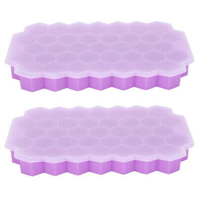 Silicone Ice Block Tray Ices Jelly Maker Mold With Lid For Whisky Cocktail Kit • 8.07£