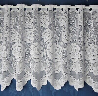 £2.42 • Buy Sally Lace Cafe Net  Curtains White - Sold By The Metre