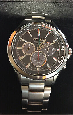 $ CDN178.56 • Buy Seiko Solar Chronograph Watch W/BOX