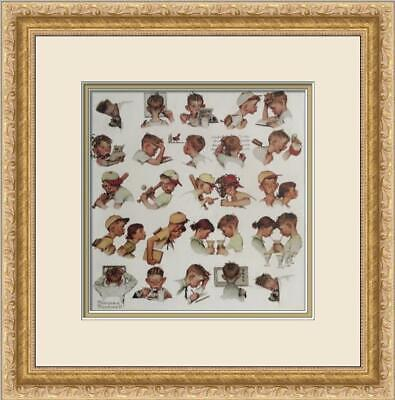 $ CDN72 • Buy Norman Rockwell - A Day In The Life Of A Little Boy Custom Gallery Framed Print