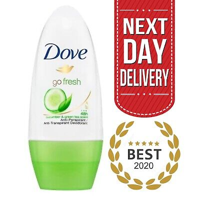 Dove Deodorant Roll On - Go Fresh Cucumber 48h Cream Anti Perspirant  |  50ml  • 1.99£