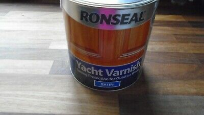 Brand New 2.5 Ltr Ronseal Yacht Varnish Satin (cheapest On Ebay) • 38£