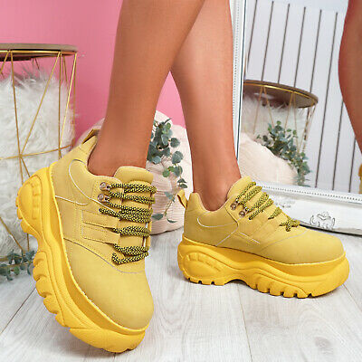 £16.99 • Buy Womens Ladies Chunky Sole Women Boots Trainers Lace Up Platform Flatform Shoes
