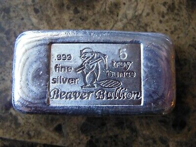 $ CDN299.95 • Buy 5 Oz. Silver Hand Poured Bar Beaver Bullion