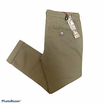 $24.99 • Buy Freestyle Revolution Cotton Olive Green Chino Skinny Trouser Pants Size 9