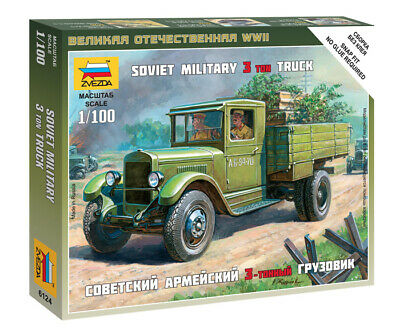 AU8.50 • Buy Zvezda Models 1/100 (Snap-Fit) Soviet 3ton Military Truck ZiS-5
