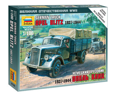 AU7 • Buy Zvezda Models 1/100 (Snap-Fit) German Truck Opel Blitz 1937-1944