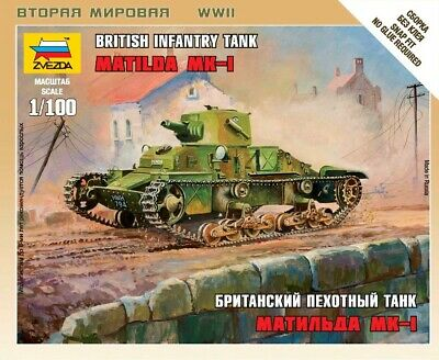 AU8.50 • Buy Zvezda Models 1/100 (Snap-Fit) British Infantry Tank Matilda Mk.I