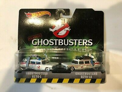 Hot Wheels Classic Ghostbusters Ecto-1 And Ecto-1A Die-Cast Set Mattel 2016 • 16.19£