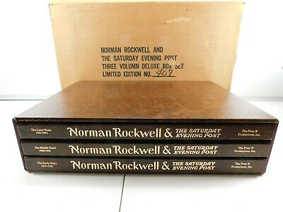 $ CDN131.52 • Buy Norman Rockwell & The Saturday Evening Post 3 Volume 1976 Limited Edition #409
